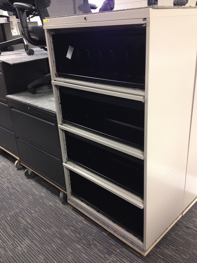 4 Drawer Lateral Filing Cabinet Steelcase 900 Series With